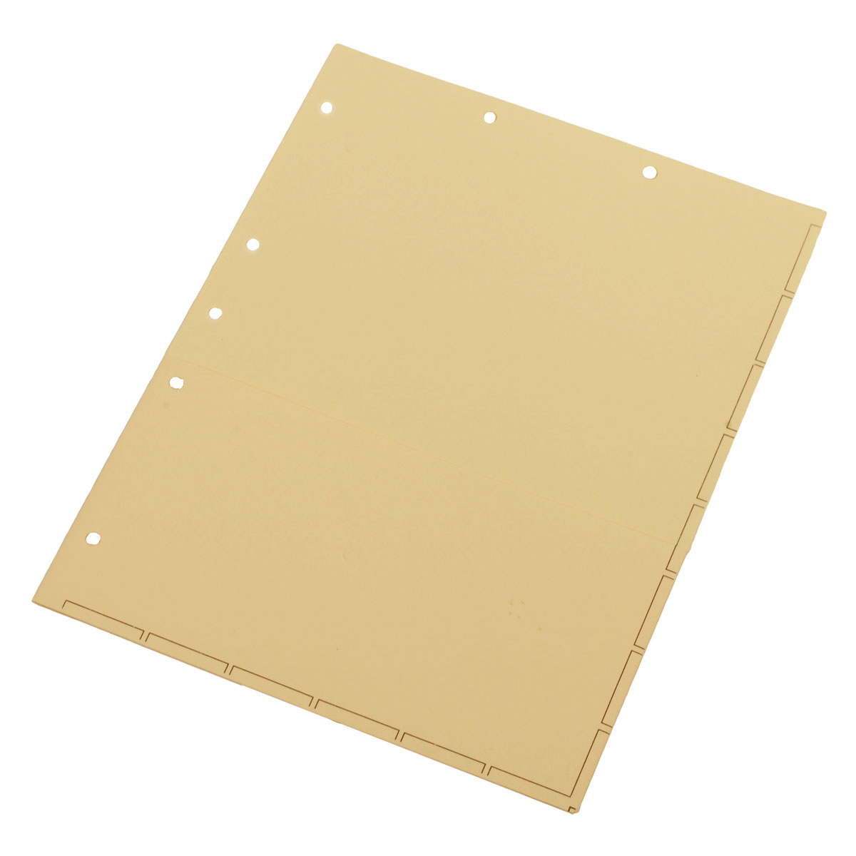 S-9149 - Chart Divider Sheets for Stick-On Tabs, Letter Size, Manila with 1/2 Pocket (Box of 50)