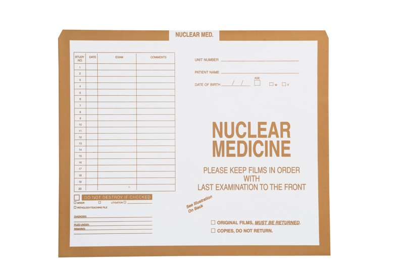 "S-91611 - Nuclear Medicine, Manila #134 - Category Insert Jackets, System II, Open Top - 10-1/2"" x 12-1/2"" (Carton of 500)"