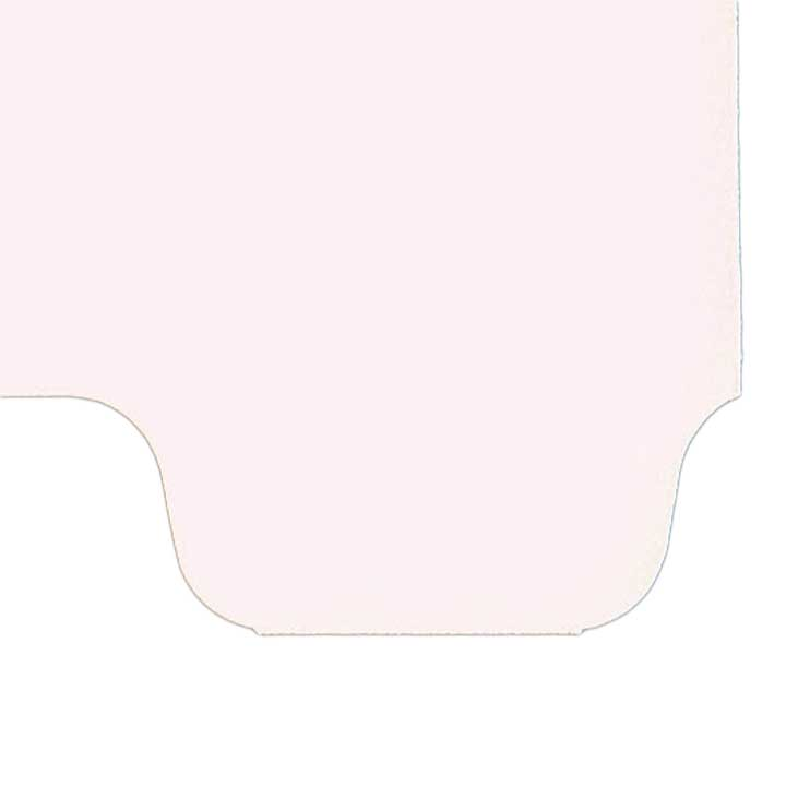 S-9209-8T-8 - Individual Stock Chart Divider Tabs, Blank, Bottom Tab, 1/8th Cut, Pos. #8 (Pack of 25)