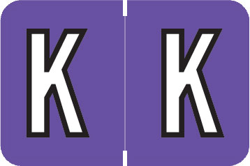 S-9216-K - Barkley ABKM Compatible Alpha Labels, Letter