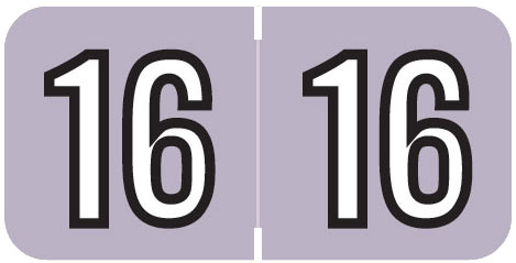 S-9229-16 - 2016 Year Labels, Lavender, Barkley Compatible, 3/4