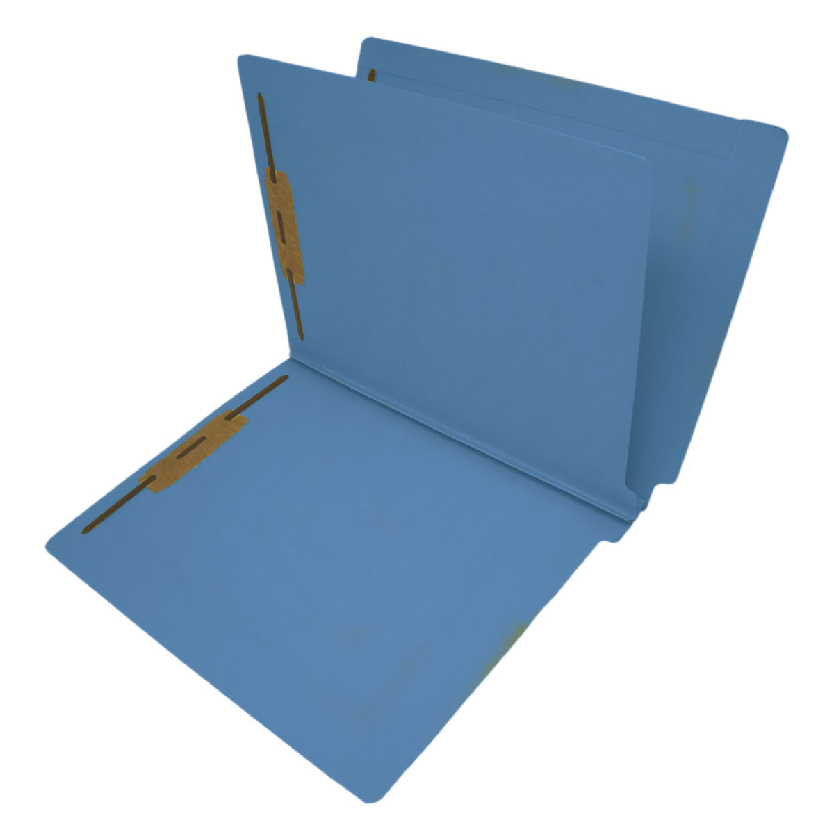 S-9239-BLU - 14 Pt. Blue Classification Folders, Full Cut End Tab, Letter Size, 1 Divider (Box of 25)