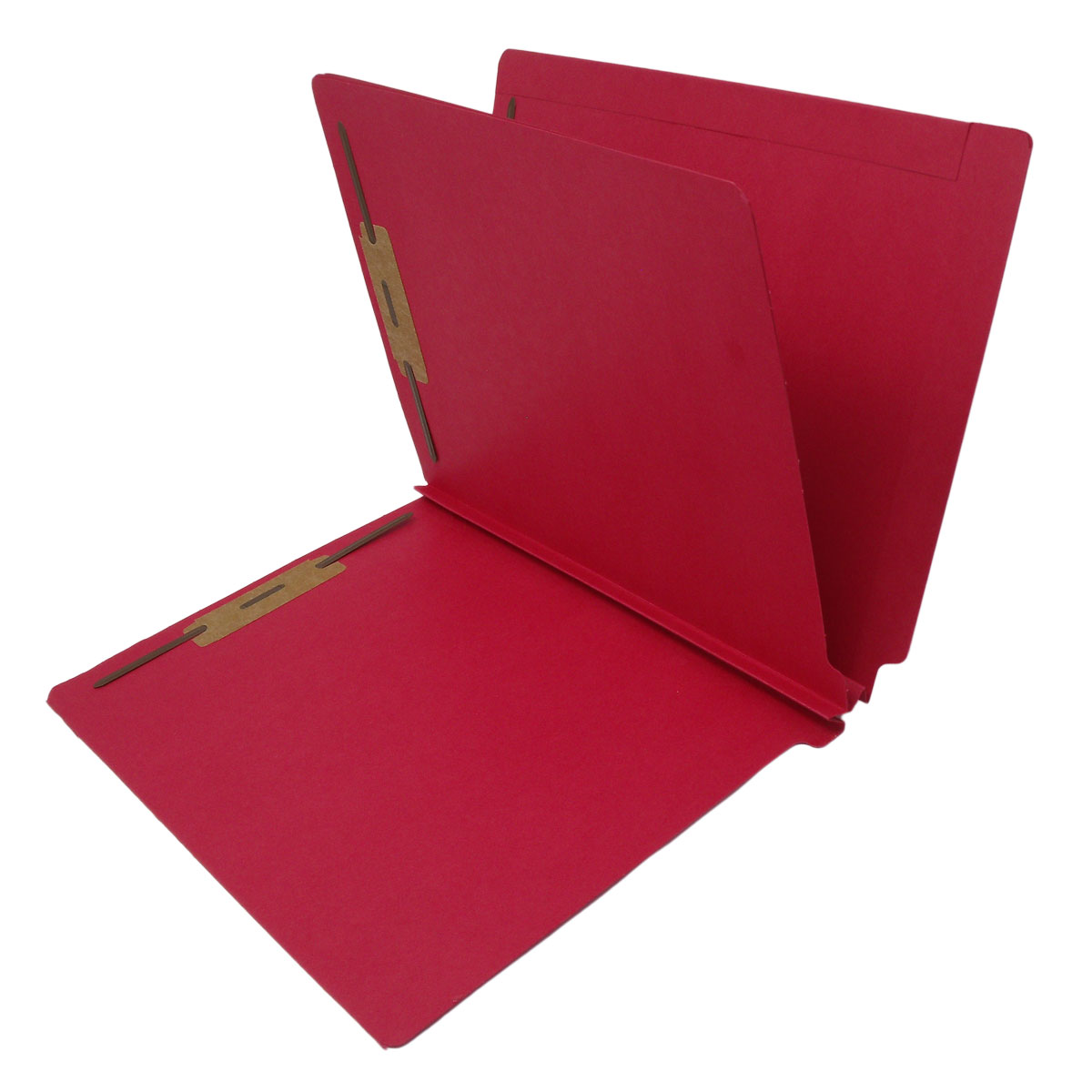 S-9239-RED - 14 Pt. Red Classification Folders, Full Cut End Tab, Letter Size, 1 Divider (Box of 25)