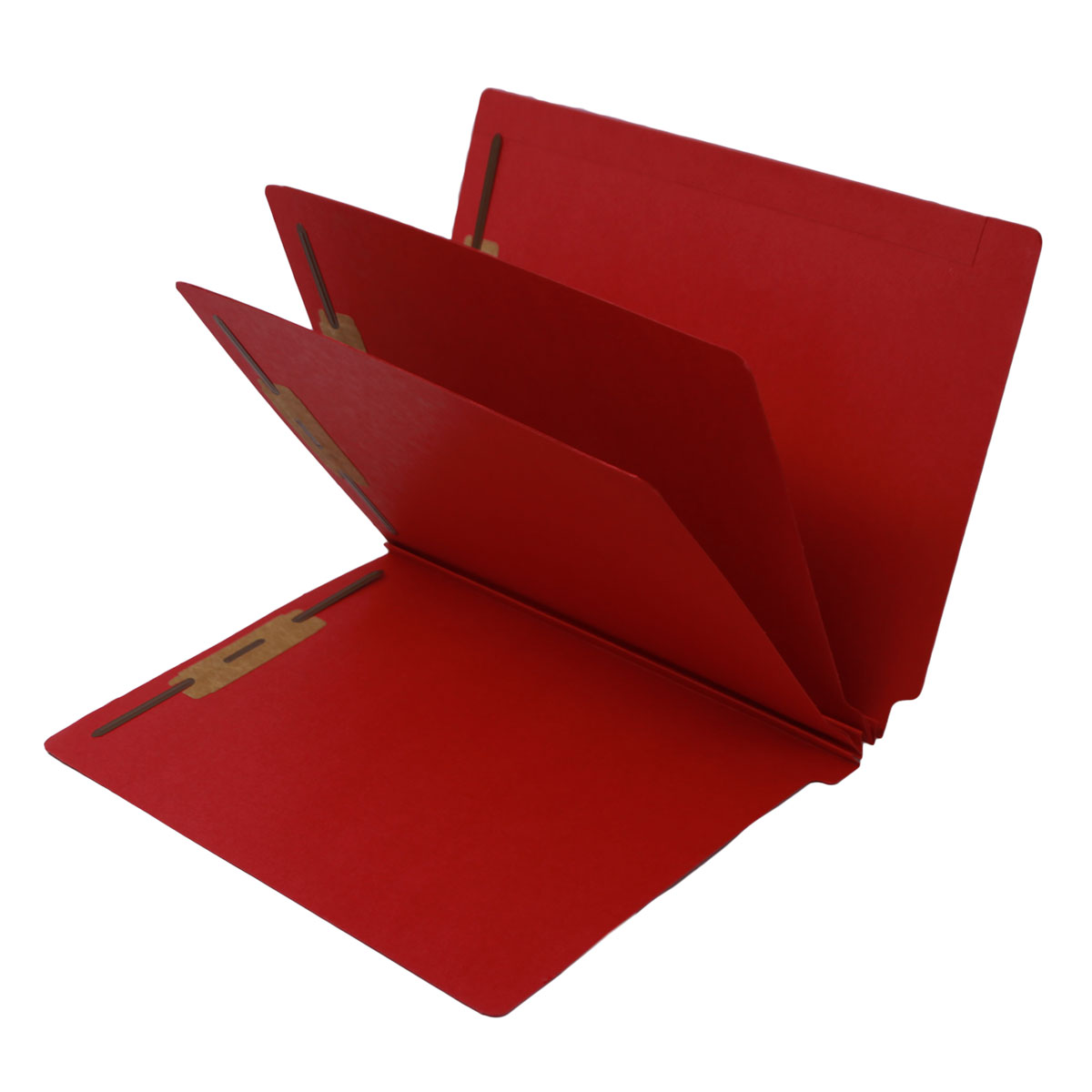 S-9240-RED - 14 Pt. Red Classification Folders, Full Cut End Tab, Letter Size, 2 Dividers (Box of 15)