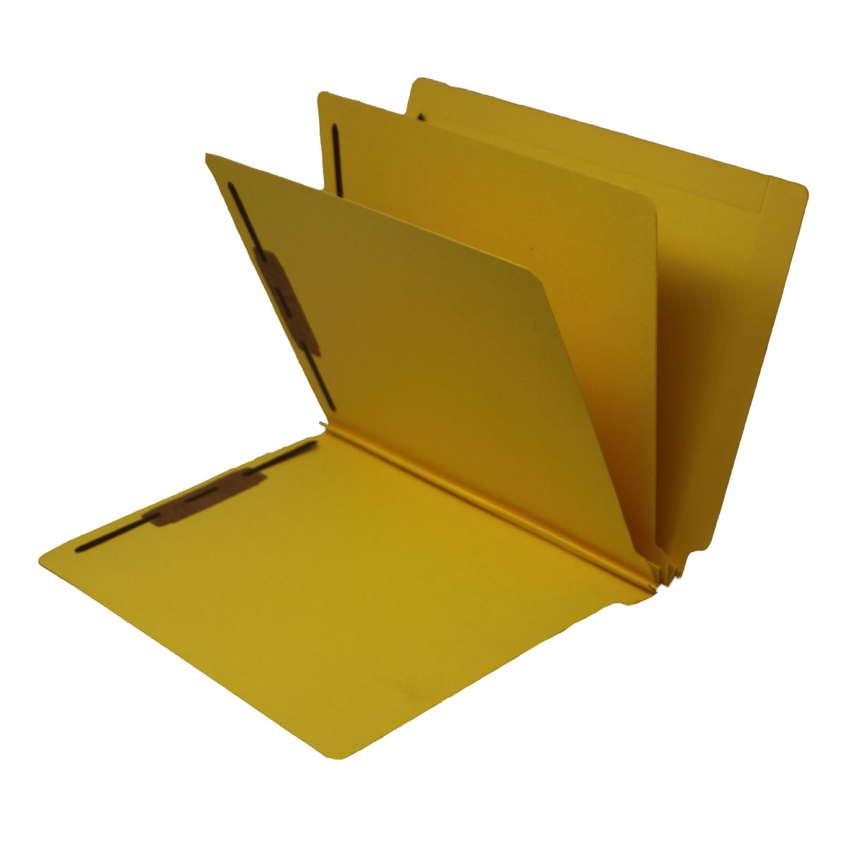 S-9240-YLW - 14 Pt. Yellow Classification Folders, Full Cut End Tab, Letter Size, 2 Dividers (Box of 15)