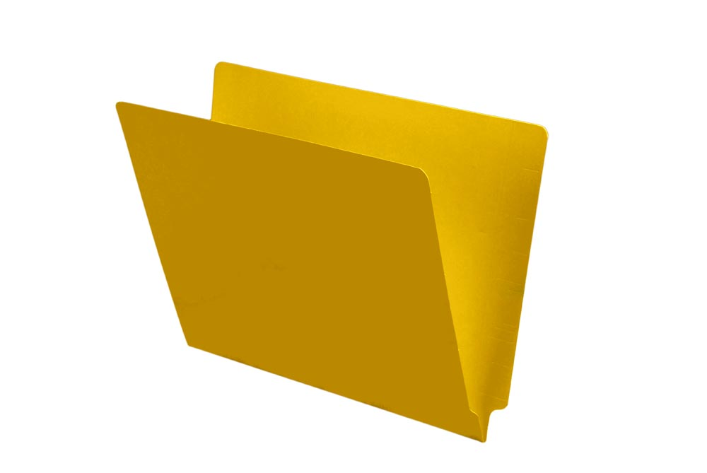S-9241-YLW - 11 pt Color Folders, Full Cut End Tab, Letter Size, Yellow (Box of 100)