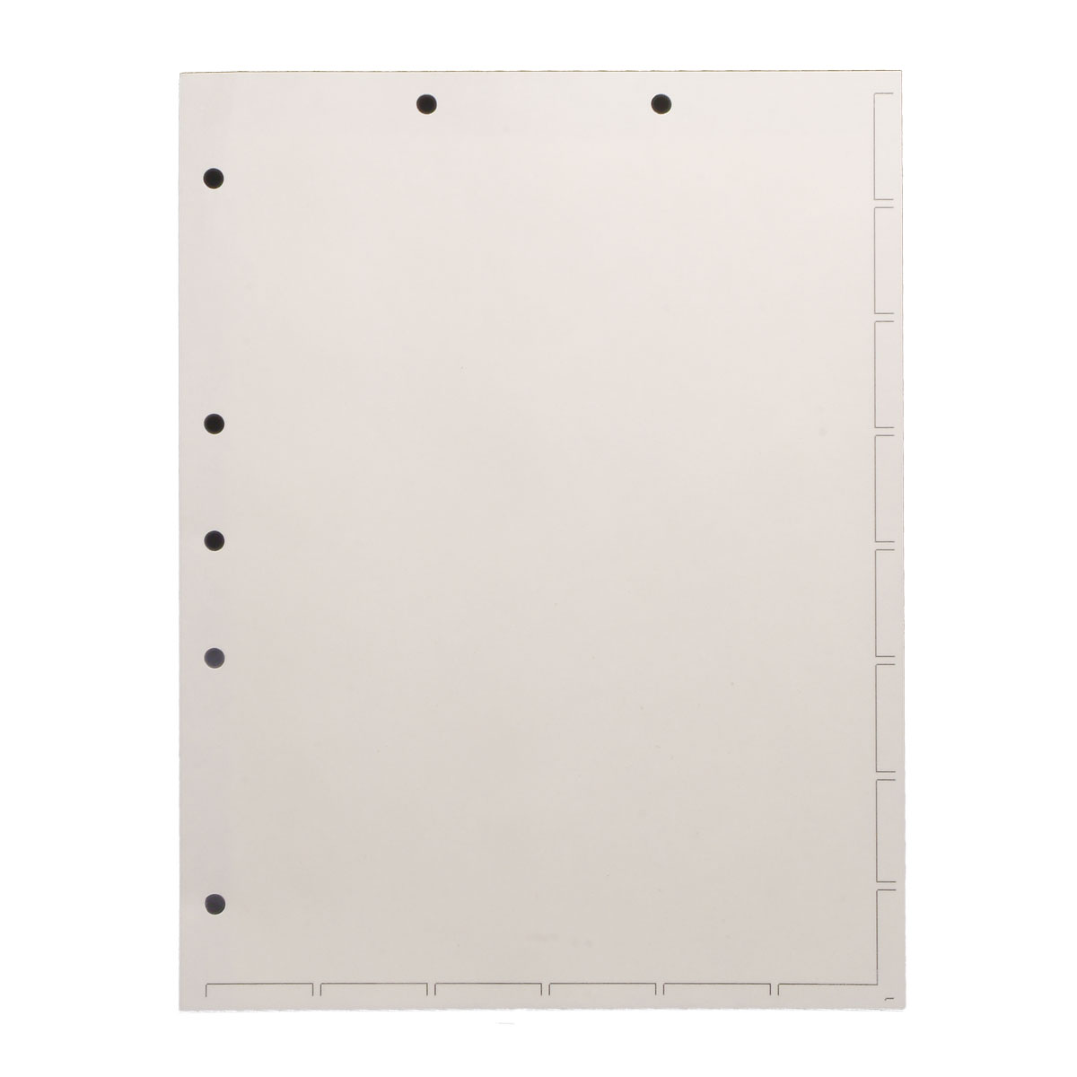 S-9244 - Chart Divider Sheets for Stick-On Tabs, Letter Size, White (Box of 250)