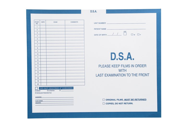 """S-92622 - D.S.A., Blue #299 - Category Insert Jackets, System II, Open Top - 14-1/4"""" x 17-1/2"""" (Carton of 250)"""