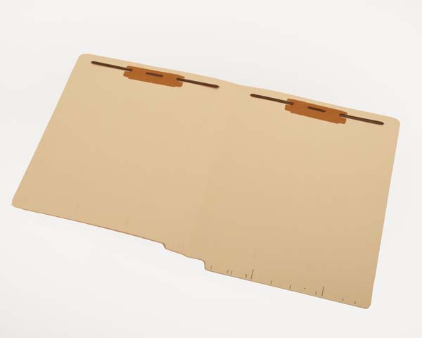 S-9282 - 14 pt Manila Folders, Full Cut 2-Ply End Tab, Letter Size, Fastener Pos #1 & #3, Printed Label Marks (Box of 50)