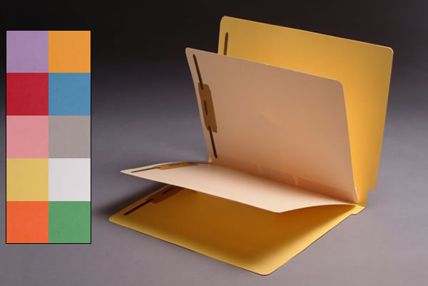 S-9307 - 14 Pt. Color Folders, Full Cut End Tab, Letter Size, 2 Dividers Installed (Box of 25)