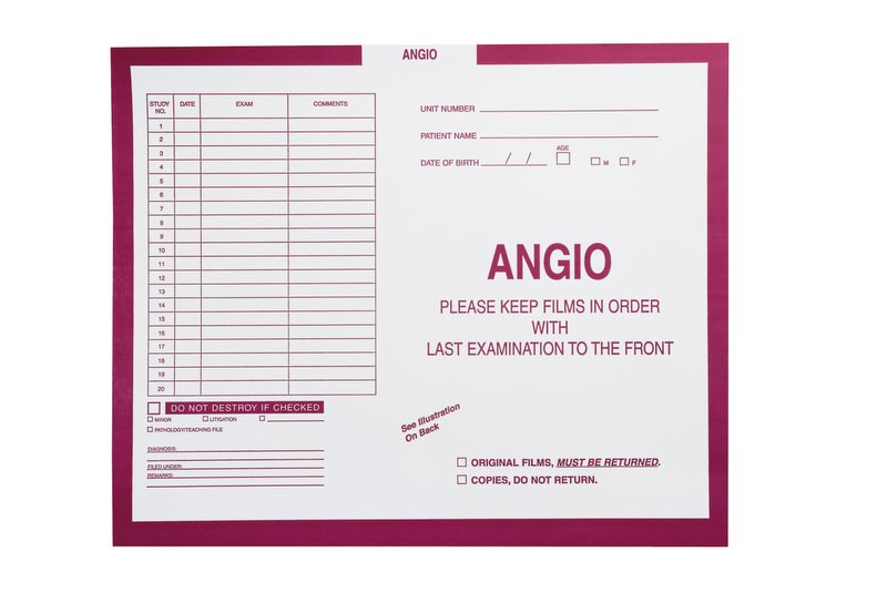 "S-94081 - Angio, Magenta #233 - Category Insert Jackets, System I, Open Top - 14-1/4"" x 17-1/2"" (Carton of 250)"