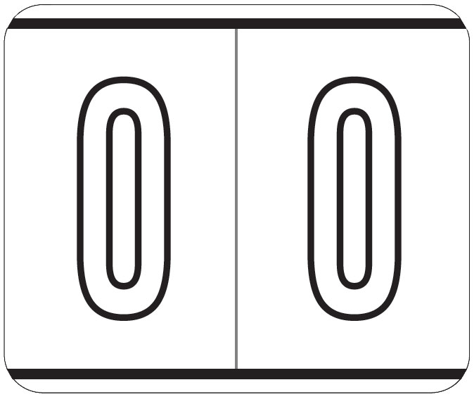 S-TENSCAN - Kardex Compatible Numeric Labels, Laminated Stock, 1-1/2
