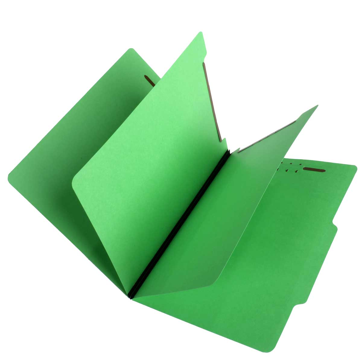 S-59704 - SJ Paper S59704 Match 15 Pt. Green Classification Folders, 2/5 Cut ROC Top Tab, Letter Size, 2 Dividers (Box of 25)