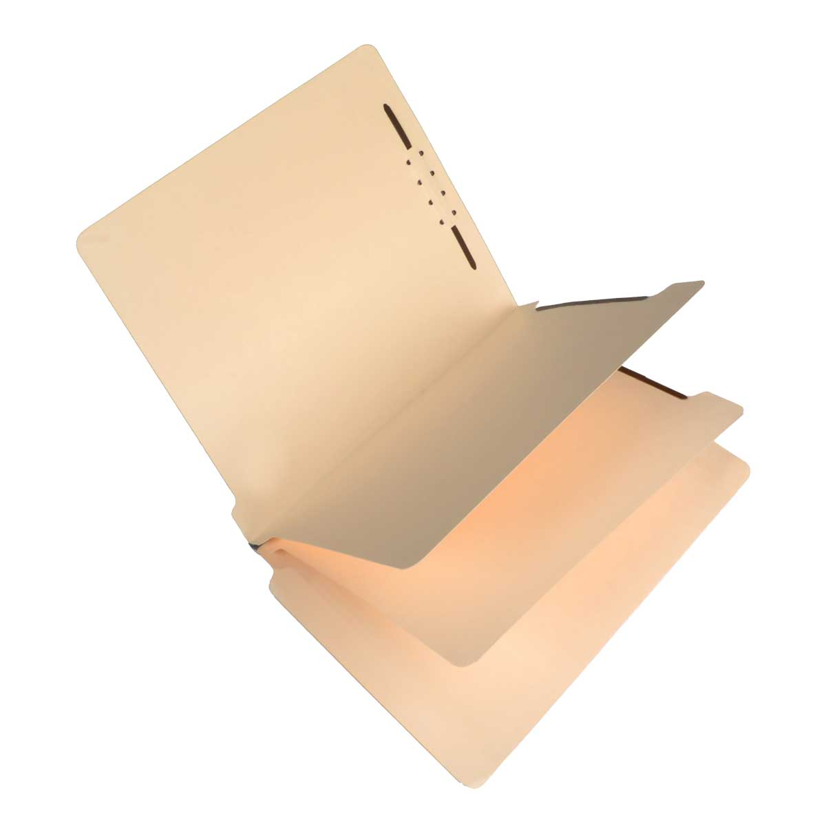S-59730 - SJ Paper S59730 Match 15 Pt. Manila Classification Folders, Full Cut End Tab, Legal Size, 2 Dividers (Box of 25)