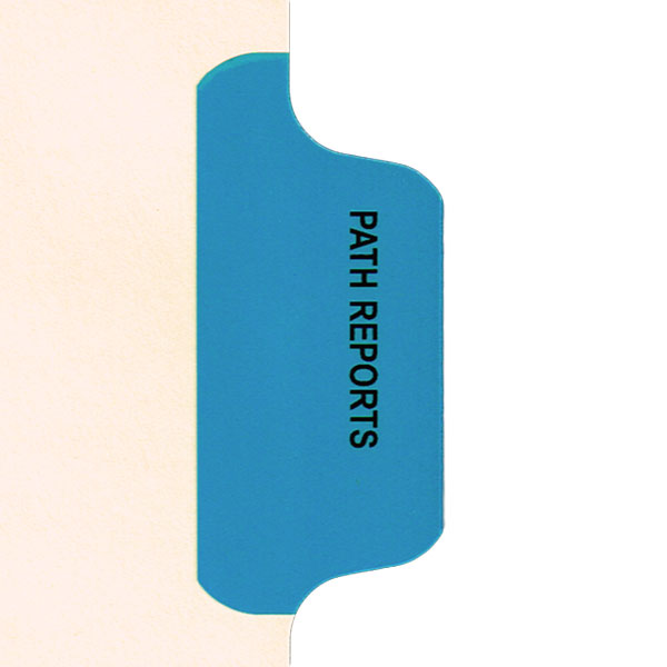 I634 - Individual Chart Divider Packs, Path Reports (Med Blue), Side Tab 1/8th Cut, Pos #3 (Pack of 50)