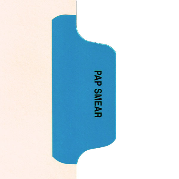 I636 - Individual Chart Divider Packs, Pap Smear (Med Blue), Side Tab 1/8th Cut, Pos #7 (Pack of 50)