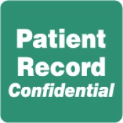 "S-8015 - HIPAA Labels, Patient Record Confidential - Green, 2"" X 2"" (Roll of 500)"