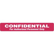 "S-8010 - HIPAA Labels, Confidential Authorized Personnel Only - Red, 6.5"" X 1"" (Roll of 100)"