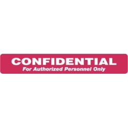 "HIPAA Labels, Confidential Authorized Personnel Only - Red, 6.5"" X 1"" (Roll of 100)"