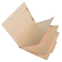 S59700 Manila Top Tab Classification Folders, Letter Size, 2 Dividers