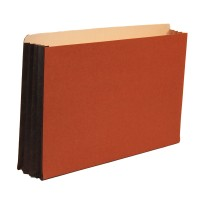"Premium Redrope File Pockets, 3-1/2"" Expansion, Tyvek Gusset, Top Tab, Legal Size, 10/Box"