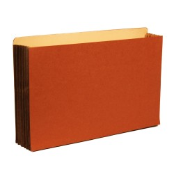 "Premium Redrope File Pockets, 5-1/4"" Expansion, Tyvek Gusset, Top Tab, Legal Size, 10/Box"