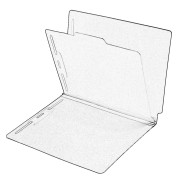 DV-S42-14-1BRBLU - Type I Pressboard Classification Folders, Full Cut End Tab, Letter Size, 1 Divider, Brilliant Blue (Box of 10)