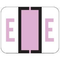 "File Doctor Compatible Alpha Labels, Letter ""E"", Laminated Stock, 1"" X 1-1/4"" Individual Let..."