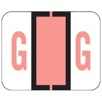 "File Doctor Compatible Alpha Labels, Letter ""G"", Laminated Stock, 1"" X 1-1/4"" Individual Let..."