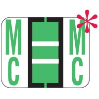 "File Doctor Compatible Alpha Labels, Letter ""Mc"", Laminated Stock, 1"" X 1-1/4"" Individual Le..."