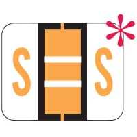 "File Doctor Compatible Alpha Labels, Letter ""S"", Laminated Stock, 1"" X 1-1/4"" Individual Let..."