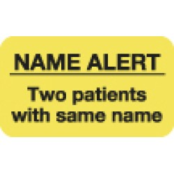 "Attention/Alert Labels, Rh NEGATIVE - Fl Chartreuse, 1-1/2"" X 7/8"" (Roll of 250)"