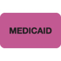 "Insurance Labels, MEDICAID - Fl Pink, 1-1/2"" X 7/8"" (Roll of 250)"