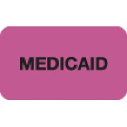 Insurance Labels, MEDICAID - Fl Pink, 1-1/2&#34 X 7/8&#34 (Roll of 250)