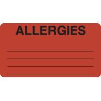Allergy Warning Labels