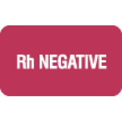 "Chart Labels, Rh NEGATIVE - Red, 1-1/2"" X 7/8"" (Roll of 250)"