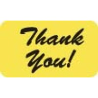 "Billing Collection Labels, Thank You! - Fl Chartreuse, 1-1/2"" X 7/8"" (Roll of 250)"