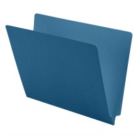 11 pt Color Folders, Full Cut 2-Ply End Tab, Letter Size, Blue (Box of 100)