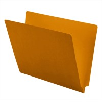 11 pt Color Folders, Full Cut 2-Ply End Tab, Letter Size, Goldenrod (Box of 100)