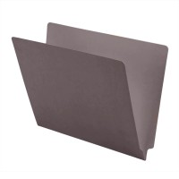 11 pt Color Folders, Full Cut 2-Ply End Tab, Letter Size, Gray (Box of 100)
