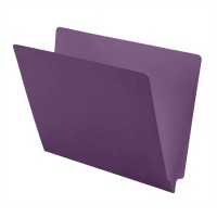 11 pt Color Folders, Full Cut 2-Ply End Tab, Letter Size, Lavender (Box of 100)