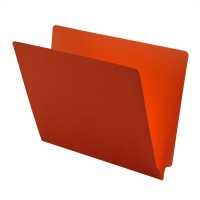 11 pt Color Folders, Full Cut 2-Ply End Tab, Letter Size, Orange (Box of 100)