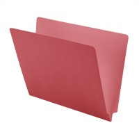 11 pt Color Folders, Full Cut 2-Ply End Tab, Letter Size, Pink (Box of 100)