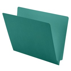 11 pt Color Folders, Full Cut 2-Ply End Tab, Letter Size, Sterling Blue (Box of 100)