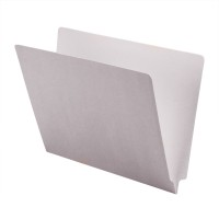 11 pt Color Folders, Full Cut 2-Ply End Tab, Letter Size, White (Box of 100)