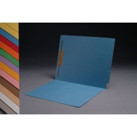 11 pt Color Folders, Full Cut 2-Ply End Tab, Letter Size, Fastener Pos #1 (Box of 50)