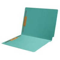 11 pt Color Folders, Full Cut 2-Ply End Tab, Letter Size, Fasteners Pos #1 & #3, Sterling Bl...