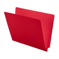 14 pt Color Folders, Full Cut 2-Ply End Tab, Letter Size, Red (Box of 50)