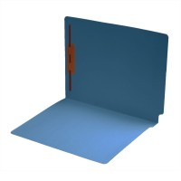14 pt Color Folders, Full Cut 2-Ply End Tab, Letter Size, Fastener Pos #1, Blue (Box of 50)