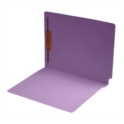 14 pt Color Folders, Full Cut 2-Ply End Tab, Letter Size, Fastener Pos #1, Lavender (Box of 50)